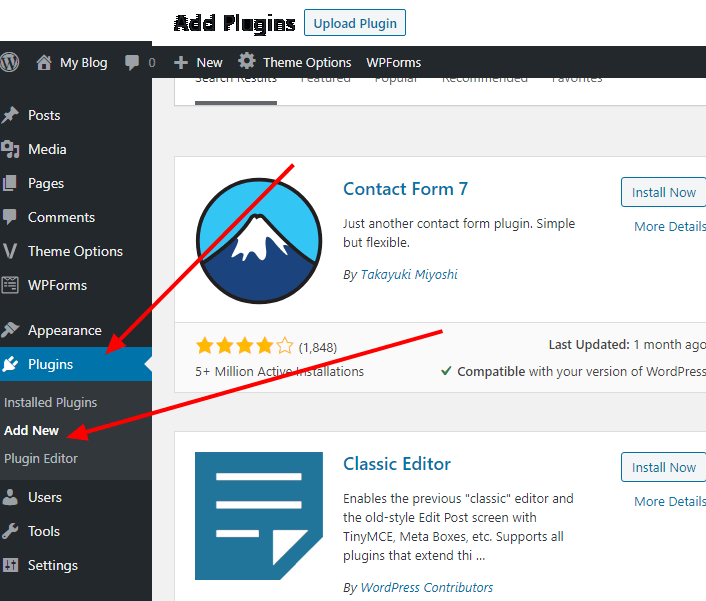 WordPress Plugins Add New