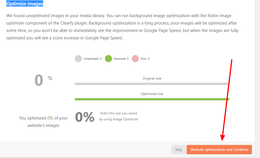 Optimize images with robin image optimizer