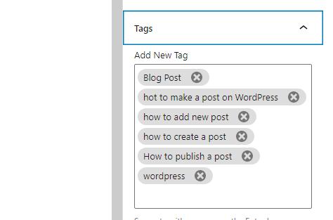 adding a wordpress post tag